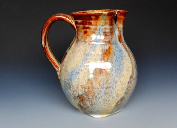 Seconds Pitcher Flower Vase Honey Red Glaze