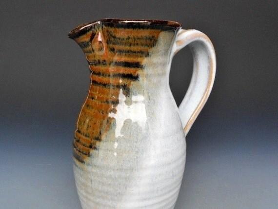 Reserved for Sarat .Seconds Pitcher Jug Medium Flower Vase Cream Glaze