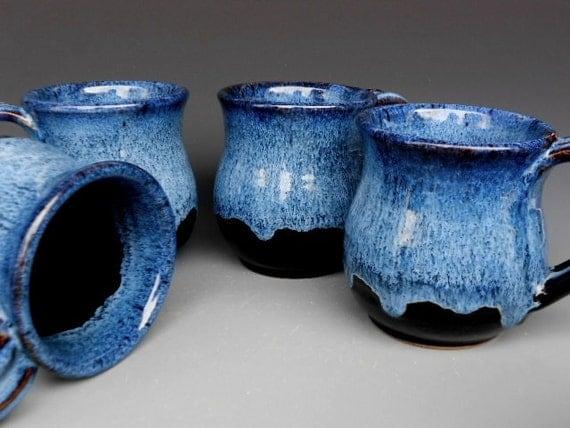 Blue Black Mug Ceramic Coffee Mug