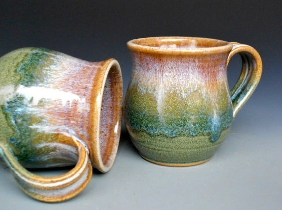 Pottery Mug Ceramic Coffee Mug Round Layered