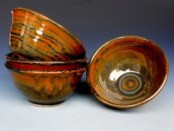 Small Bowls Burnt Umber
