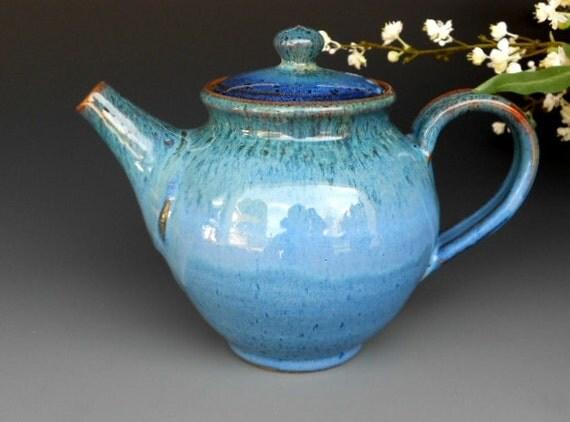 Teapot Blue Glaze