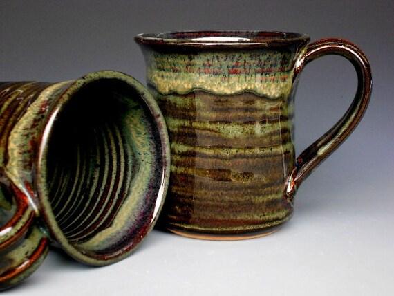 Dark Green Ceramic Mug Coffee Cup