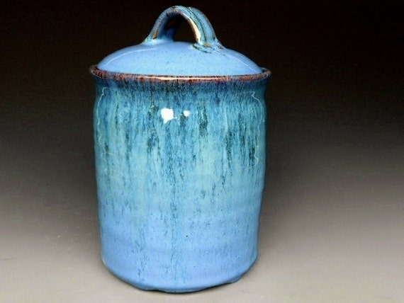 Seconds Blue Green Cookie Jar