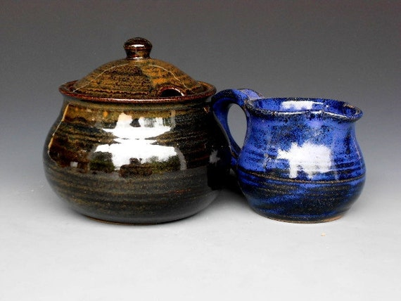 25% Off Mismatched Creamer and Sugar Bowl