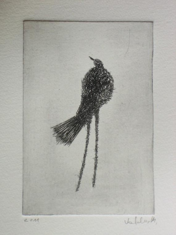 Original Etching  Bird II