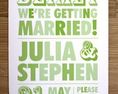BLIMEY - We're Getting Married // SAVE THE DATE x 50
