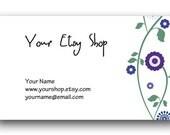 Purple Posies Matching Business Card Design