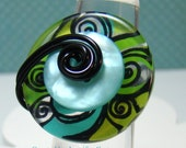 Funky Swirl Button Ring