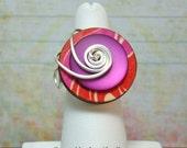 Purple Passion Button Ring