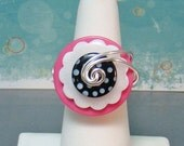 Poodle Skirt Button Ring