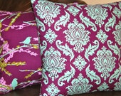 Decorative Throw Pillow Covers Purple Pillows - 18 Inches - Aviary 2 by Joel Dewberry in Lilac