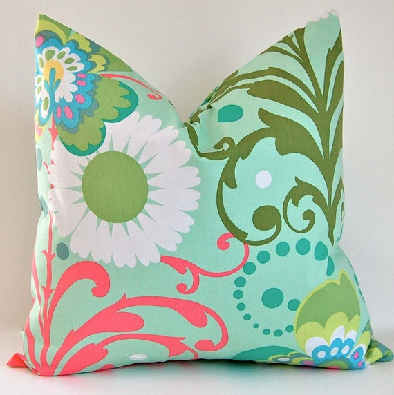 Decorative Pillows Amy Butler Love Accent Pillow Covers  - 20 x 20 Inch Throw Pillow Cushion Covers
