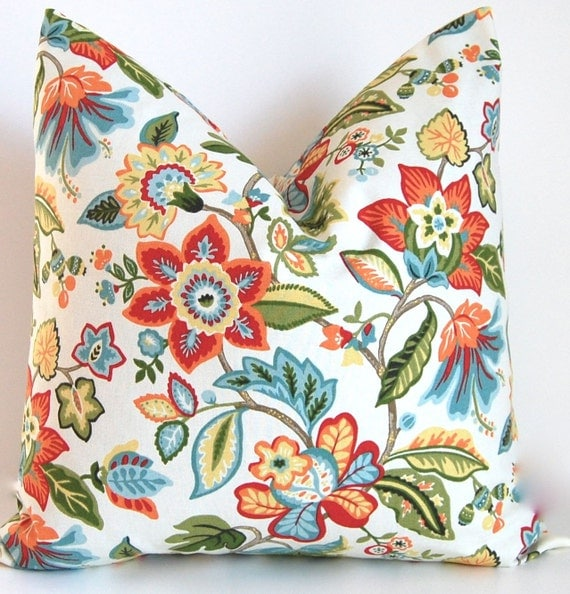 Tropical Throw Pillow Covers : Tropical Decorative Pillow Cover ONE Throw by CompanyTwentySix