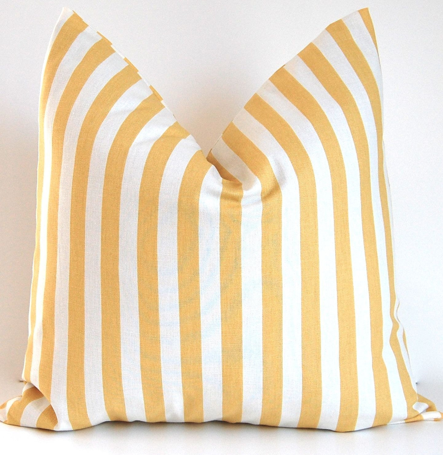 Pale Yellow Throw Pillow Cover : Decorative Throw Pillow Covers Pale Yellow Stripe on Winter