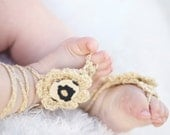 Barefoot Baby Sandals. Girl stylish foot wear for those tiny earth bound toes.