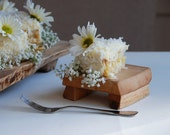 Little Wedding Cake Plate Cutting Board Appetizer Tray Maple Footed Dessert Plate Rustic Wood - grayworksdesign