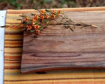 Cutting Board Serving Tray Organic Walnut Footed Platte