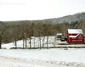 8x12 New England Farm Winter Scene