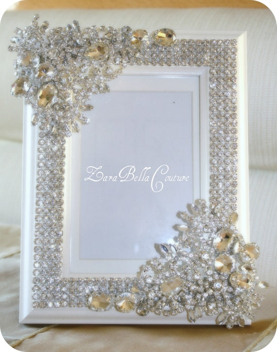 Items Similar To Crystal Encrusted 5x7 Swarovski Sparkle