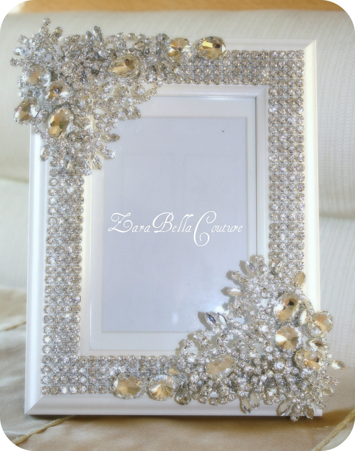 Crystal 5x7 Swarovski Sparkle Jeweled Picture By