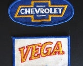 Vintage Chevrolet Chevy Vega Cloth Patches Circa 1970s