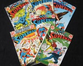 6 Superman Comic Books Numbers 255 - 260 DC Comics 1972