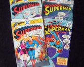 4 Superman Comic Books Nos 274 294 295 298 DC Comics 1974-75