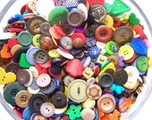 Clearance 100 Bulk Buttons New to Vintage Button Assortment Button Jewelry Bulk Button Lot Black Buttons Brown Buttons Metal Buttons