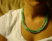 Multiple Teal Necklace