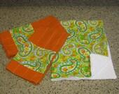 Multi Paisley Dishmat and Towel Set
