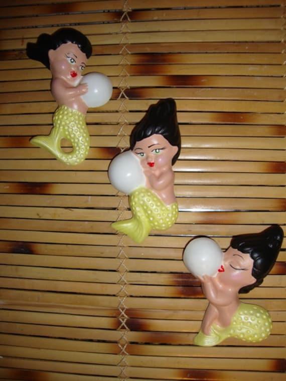 Adorable Retro Reinterpreted 3 Piece Baby Mermaid Set for Your  Bath
