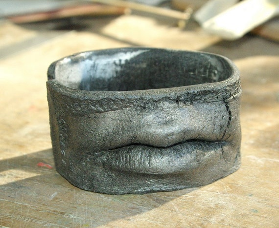 C and G Textured & Distressed Goth Cuff