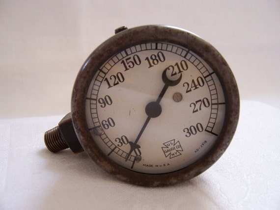 Vintage Industrial Gauge - US Gauge Company -  New York