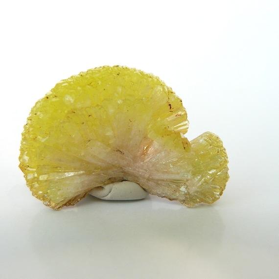 Natural Crystal ADAMITE lemon yellow sun rays mineral specimen