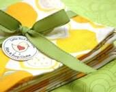 Cloth Napkins 15 Inch Set of 4 Yellow and Orange Lemons