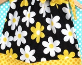 Pillowcase Dress in Michael Miller Fabric-Lil Plain Jane in YELLOW Available in Sizes 3T