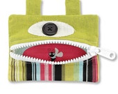 Fabric Gift Card Holder Pockets with Button Eyes- Gazer