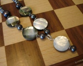 Shell and Grey Pearl Necklace (1099S)
