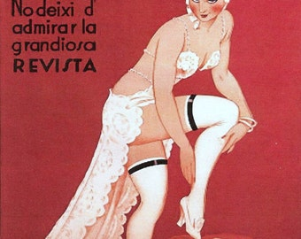 Vintage Theatre La Camisa De La Pompadour Print
