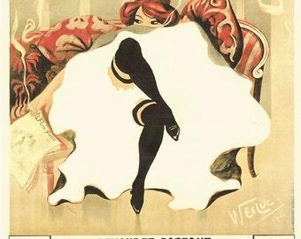 Le Frou Frou vintage advertisement poster