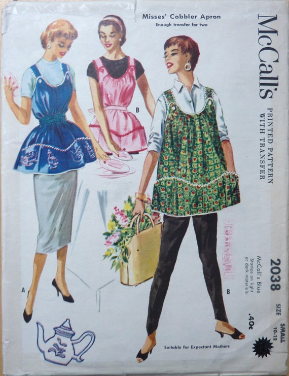 Vintage Cobbler Apron Sewing Pattern Mccall S 2038 With
