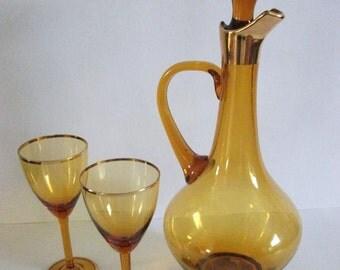 Vintage Gold   Decanter Set