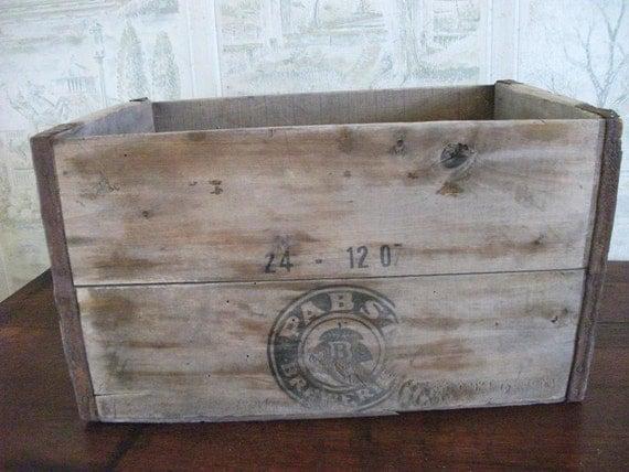 Vintage Wood Beer Crate Wooden Box