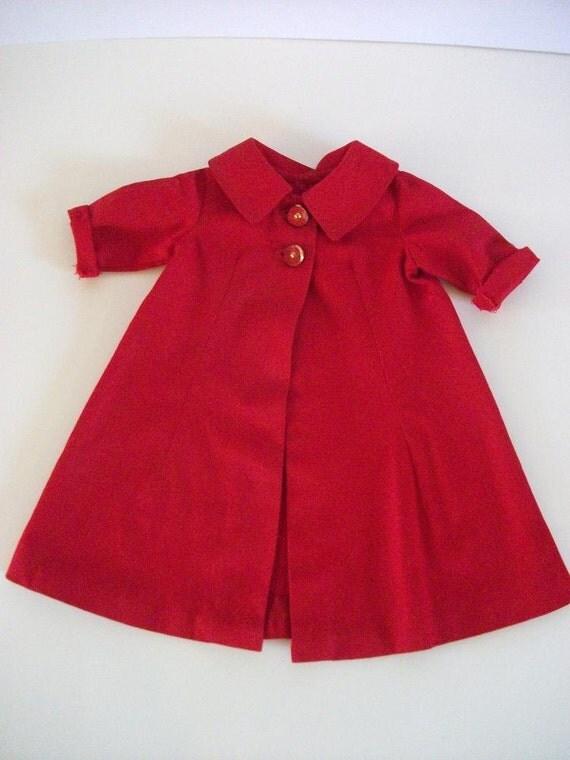 Vintage Red Baby Coat