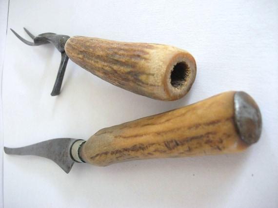Vintage Deer Handle Carving Set