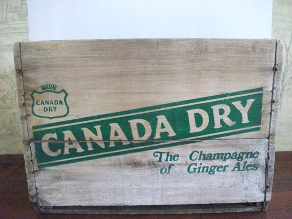 RESERVED for KATH  Donot purchase Vintage  Wood  Pop Crate Canada Dry Ginger Ale