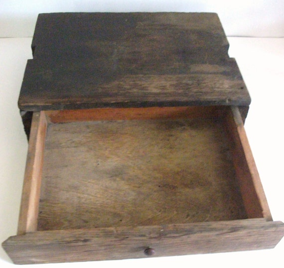 Wood Box with Drawer
