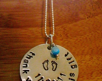 Midwife/Doula Gift - Sterling Necklace - By Rawkette
