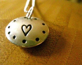 Locket of Love - Heart and Name Inside - By Rawkette